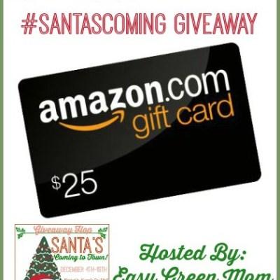 $25 Amazon Gift Card Giveaway #SantasComing