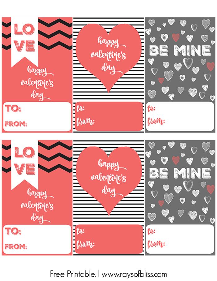 free modern valentine's day 8x10 printable art