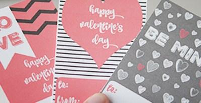 Free Modern Valentine's Day 8×10 Printable Art & Valentines Cards
