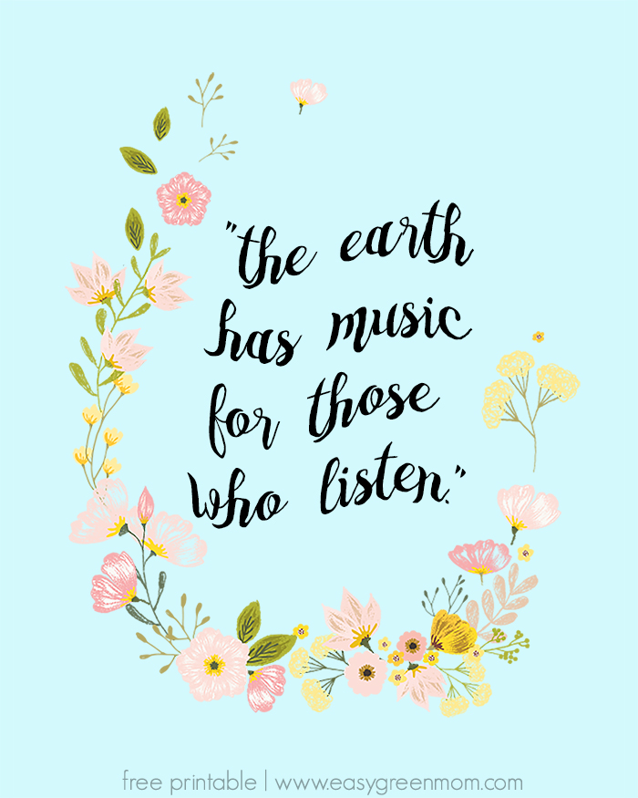 The Earth Has Music for Those Who Listen - Free Printable