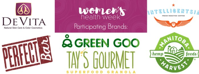 Women's Health Week Sampler Event participating brands
