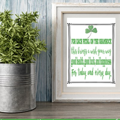 St. Patrick's Day Quote Art Free Printable