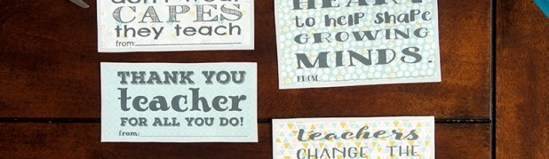 Free Printable Teacher Appreciation Notes