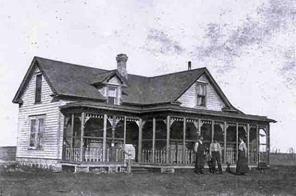 Ben Isakson home in 1895 - Photo obtained from Ruth Dudero