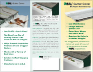 REAL Gutter Cover Tri-Fold Brochure