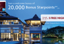 American Express Starwood Preferred Guest (SPG) Credit Card: – 20,000 Welcome Points = 5 Free Nights Hotel!