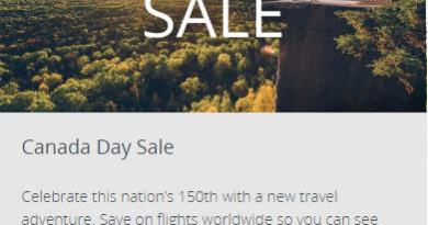 Air Canada: Canada Day Sale (Book by July 4)