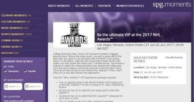 Won Another SPG Moments Auction – Going to be VIP at the 2017 NHL Awards