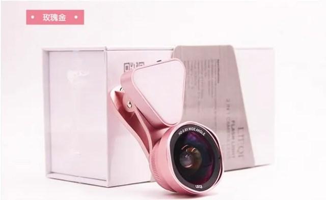 【LIEQI】LQ-035P 0.6X廣角鏡頭手機補光燈