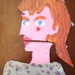 Olga Cardboard Cartoon Portrait