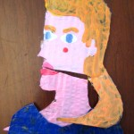 Sasha Cardboard Cartoon Portrait
