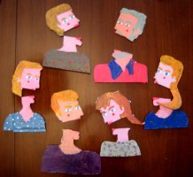 The Gorbenko Family Alive - cardboard cartoon family portrait (2)