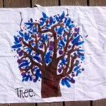 Tree on fabric