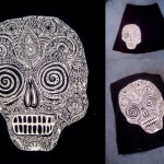 Day of the Dead Skull Skirt