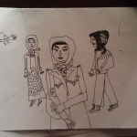 Turkish note sketch: women in Istanbul