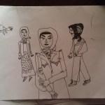 Turkish note sketch: women in Istanbul
