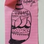 Kolonya bottle sketch
