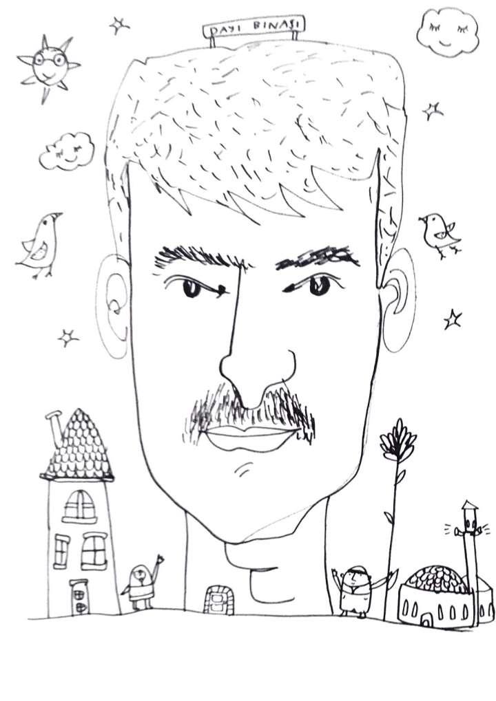 Uncle Building travel sketchbook