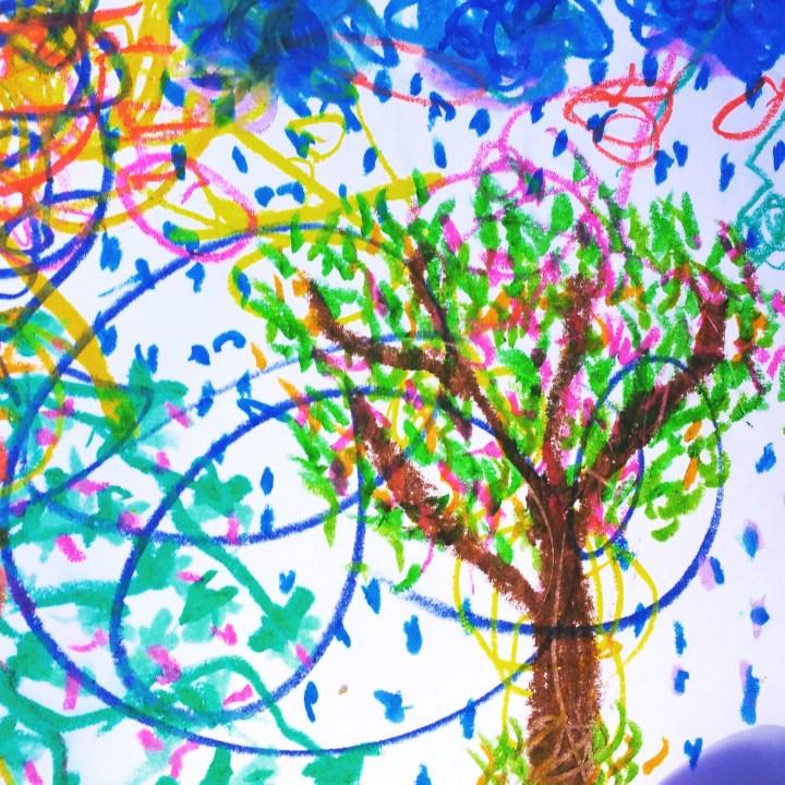 Rain tree with vines