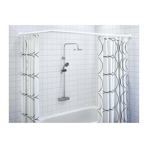 salle de bain et wc accessoires de douche salle de bain et wc 80x2 5x2 5 cm msv 140099 barre douche dangle 80x80cm de aluminium en blanc allopizzaterrebonne com