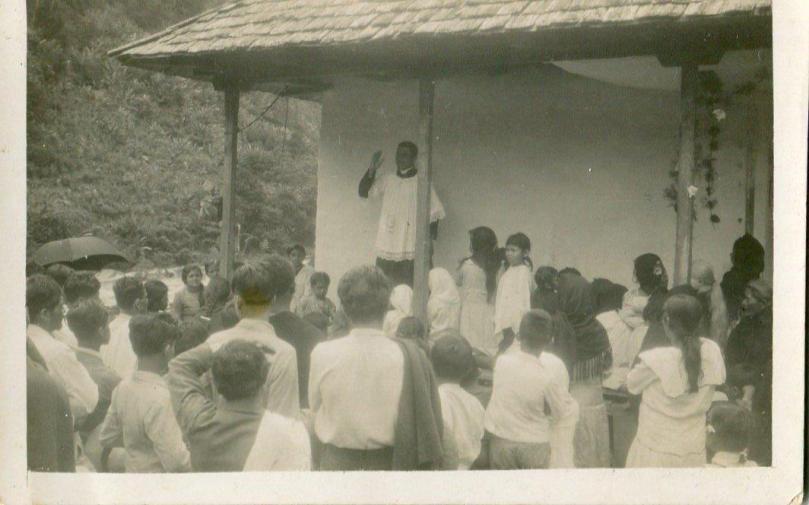 Padre Pedro María en una prédica. Foto cortesía de la familia
