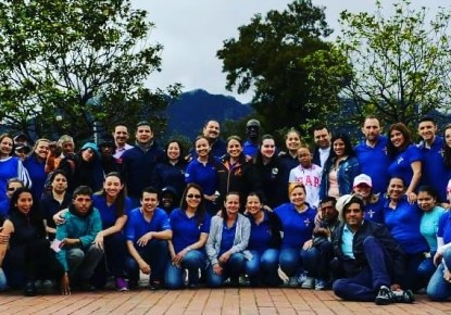Grupo de voluntarios que apoya en las misiones.