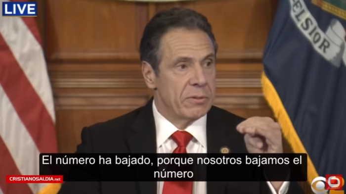 Gobernador de Nueva York 1 El número ha bajado porque nosotros lo bajamos