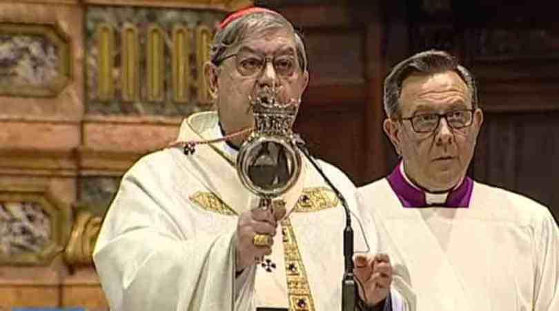 Licuefaccion reliquia San Genaro Vatican Media 020520