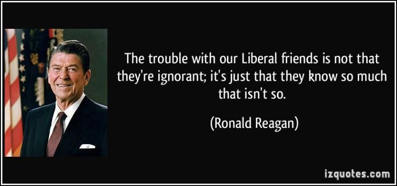Ronald Reagan on liberals