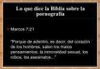 Lo que dice la Biblia sobre la Pornografia