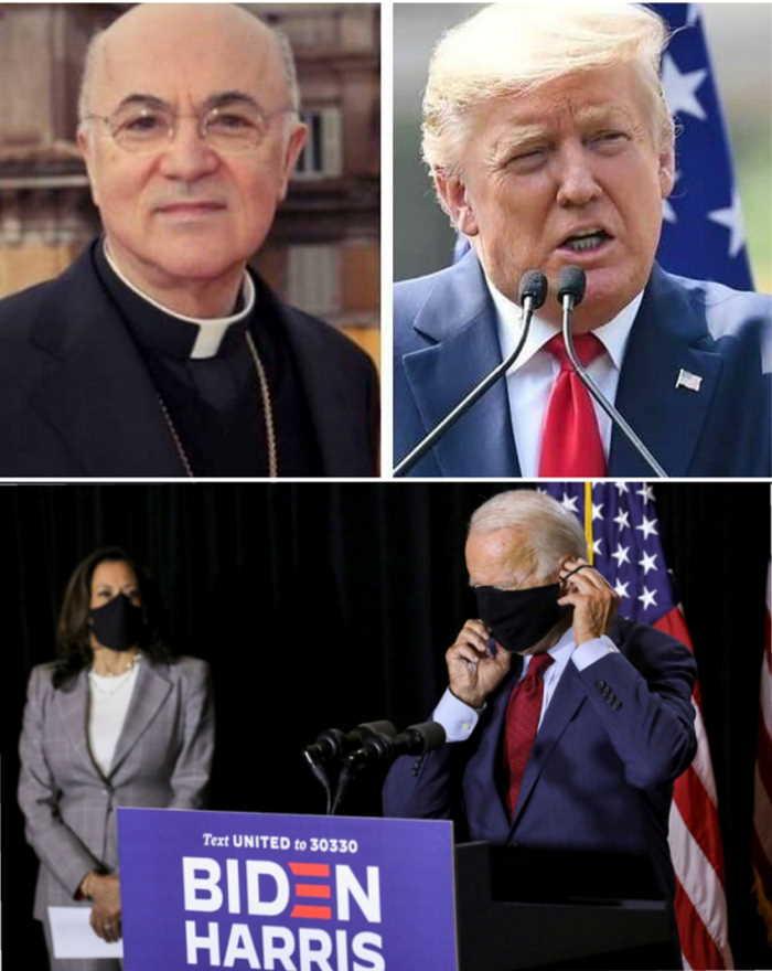 Vigano Trump Biden Harris