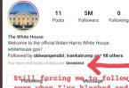 instagram white house