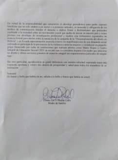 Carta de solicitud de replica diario Opinion B