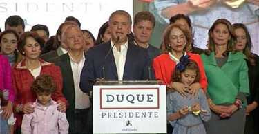 Duque electo Presidente