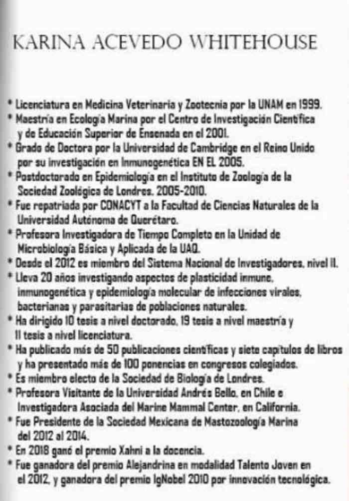 Dra Karina Acevedo Whitehouse