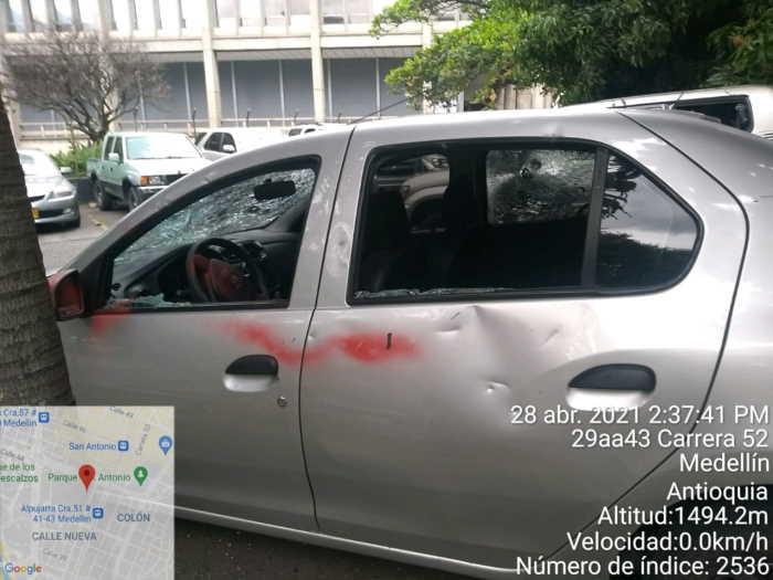 Vandalismo en Medellin 2