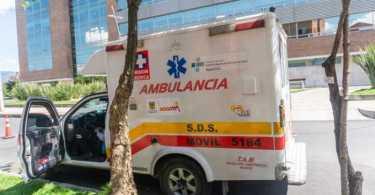 Ambulancia detenida