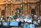 Ciudadanos crucenos se manifiestan a favor de la vida en la Catedral