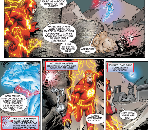 Image result for captain atom meets the Flash