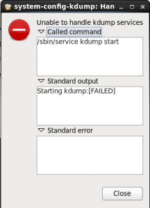 Starting kdump:[FAILED]