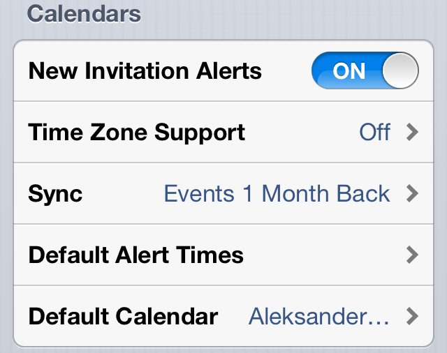Set default calendar on iOS – Thoughts on many things