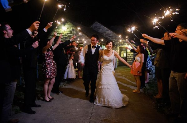 Lake Macbride wedding with sparklers send off | Iowa City Photographer -Razvan