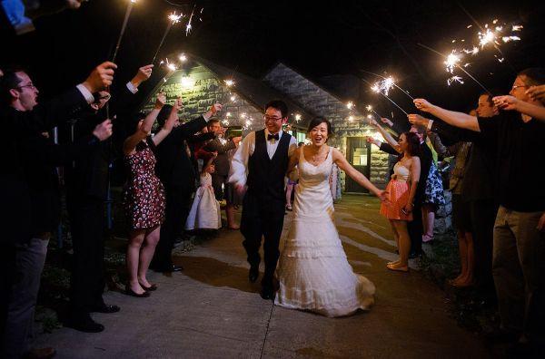 Lake Macbride wedding with sparklers send off | Iowa City Photographer -Razvan