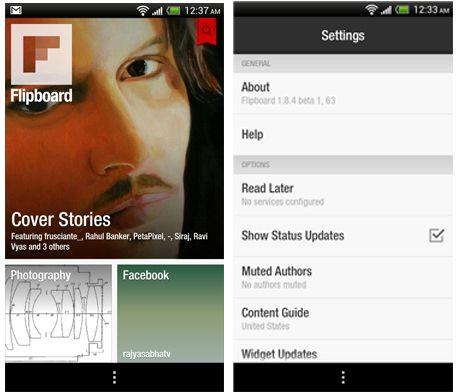 Flipboard beta Android