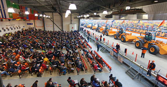 Heavy equipment selling at a Ritchie Bros. auction