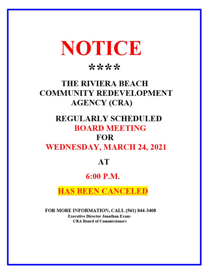 rbcra-board-mtg-march-24-canceled