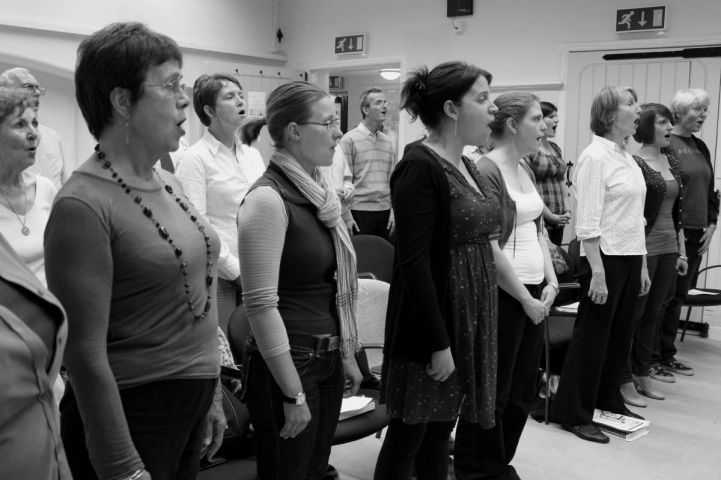A group of singers of the Rotherhithe & Bermondsey Choral Society