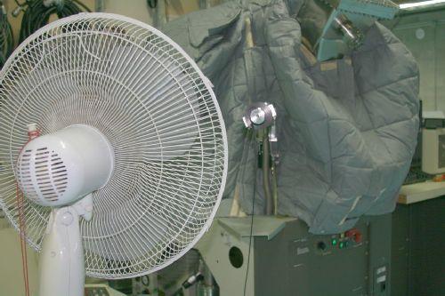 cooling fan on gate valve