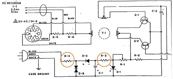 Failed Resistors on RV-16D schematic