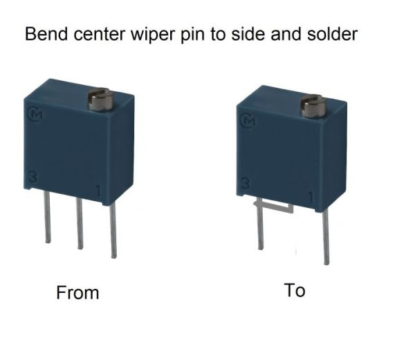 Bend center pin